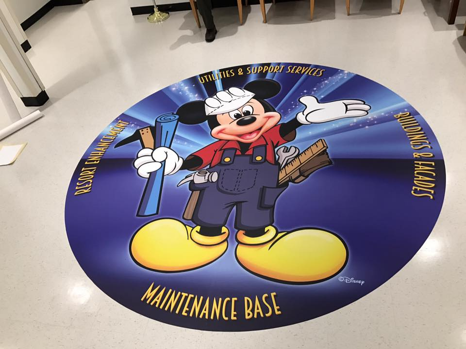 Image of a floor graphic - Custom Floor graphics Fontana, Rancho, Jurupa, Riverside and Eastvale