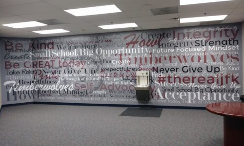 Customer Spotlight: Custom Printed Wallpaper for John F Kennedy Middle College High School in Norco CA