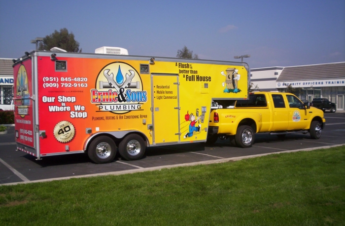A wrap done on a trailer - Vehicle Wraps in Fontana, Rancho, Jurupa, Riverside and Eastvale
