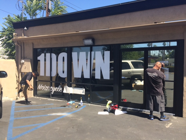 Single color diecut window graphics - Window Graphics in Fontana, Rancho, Jurupa, Riverside and Eastvale