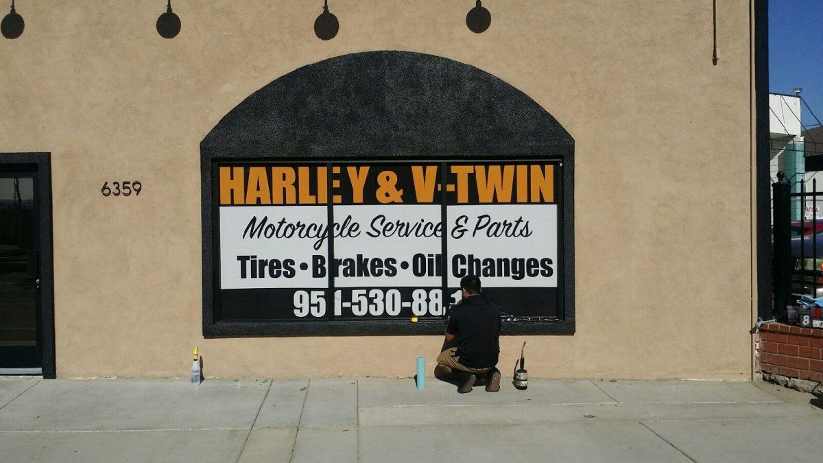 window graphic installation - in Fontana, Rancho, Jurupa, Riverside and Eastvale