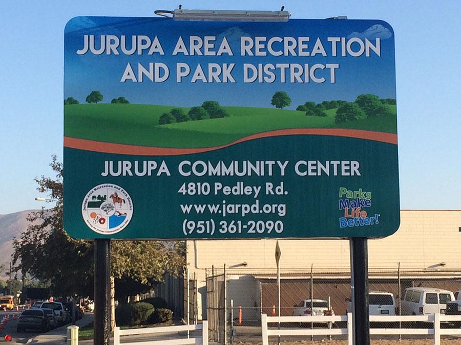 Jurupa Community Center Sign - Outdoor Signs in Fontana, Rancho, Jurupa, Riverside and Eastvale