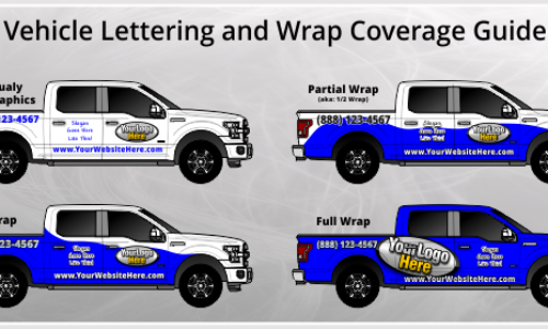 What are the different levels of vehicle graphics and wraps available?