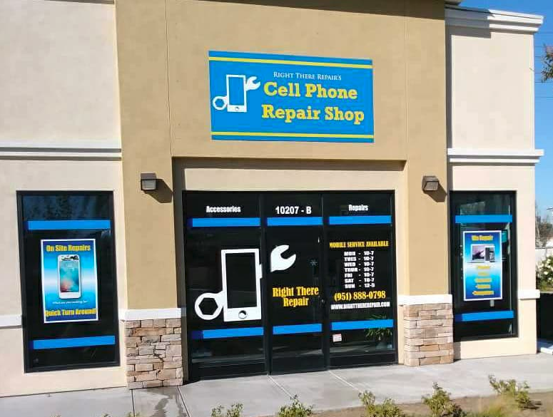 Storefront Window Graphics for Right there Repair in Fontana, Rancho, Jurupa, Riverside and Eastvale