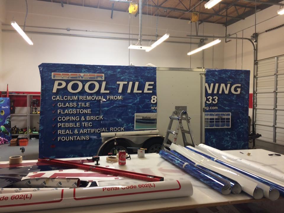 Process of applying a vehicle wrap - Custom acrylic lobby signs Fontana, Rancho, Jurupa, Riverside and Eastvale